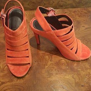 NWT Kendall + Kylie KKMIA Orange Suede Heels